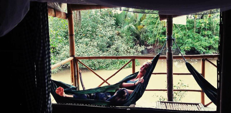 My friend in a hammock in Ho Chi Minh
