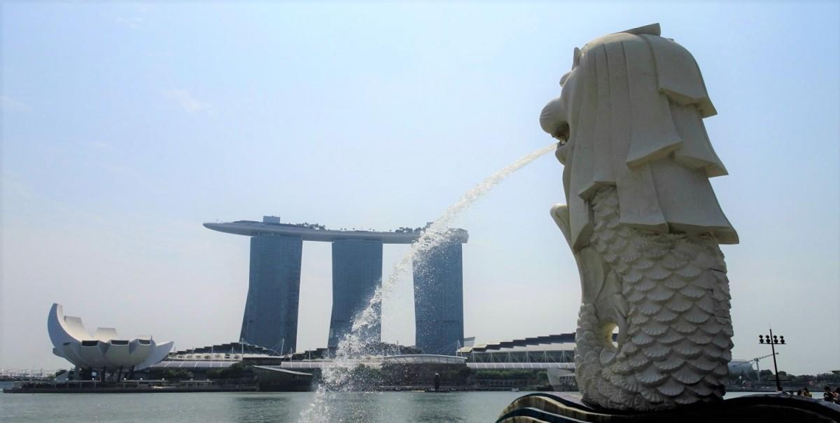 Singapore, Merlion Park statue