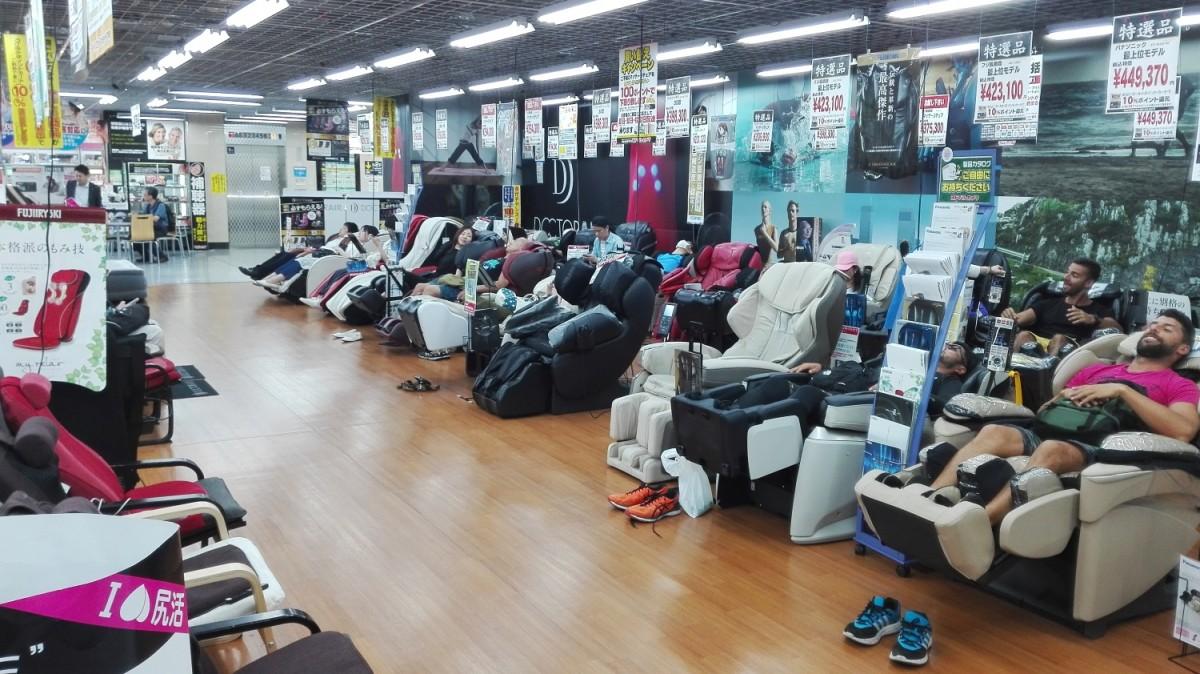 Massage Chairs in YodoBashi, Japan