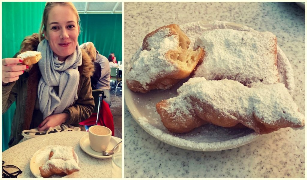 Beignets in Cafe du Monde, New Orleands, Louisiana