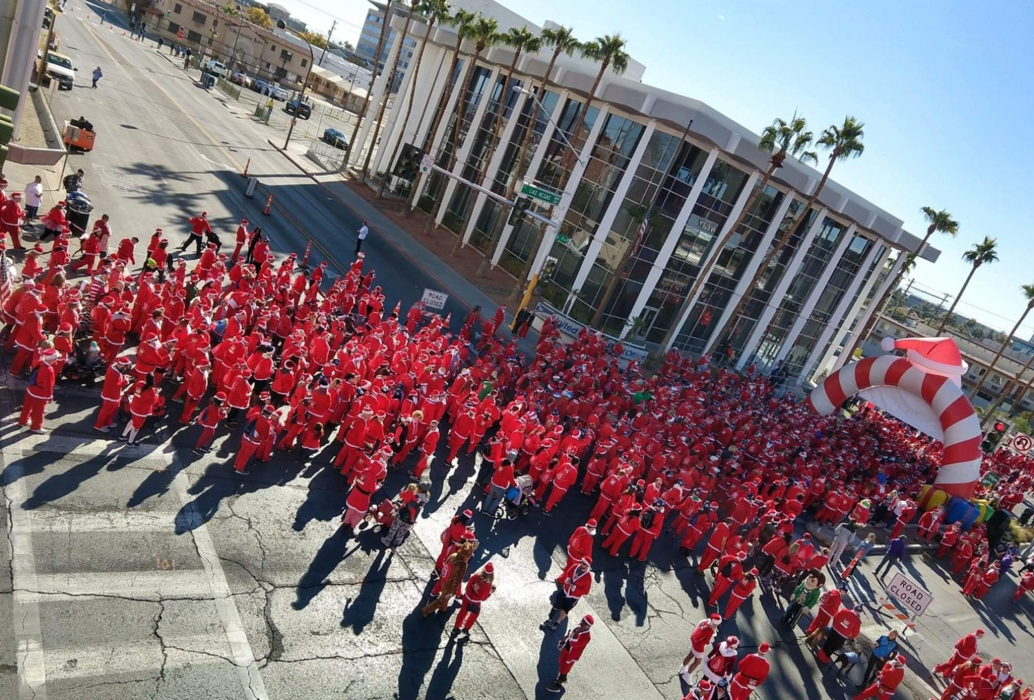 Great Santa Run Las Vegas from top
