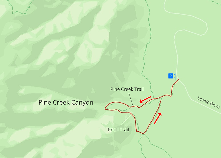 Pine Creek Canyon, Map