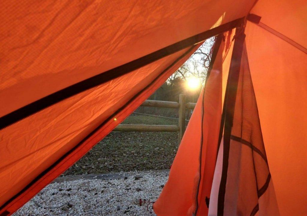 Rising sun in KOA campground, San Antonio, Texas